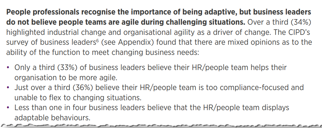 Excerpt from the CIPD People Profession Survey